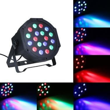 RGB-Scheinwerfer mit AC90-240V 18W 18 LEDs