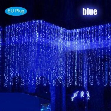 3x3 Meter AC 110-240 V 300 LEDs String Lichtvorhang Lichter Weihnachtslicht Dekoration Beleuchtung