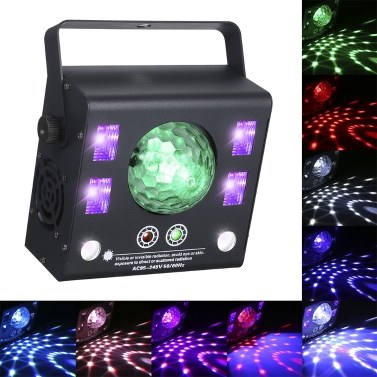 50W LEDs Stage Laser Light 4-in-1 Kaleidoscope DMX512 Master-slave Auto-run Sound Activated Projector