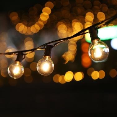 Tomshine 12m/39.37ft E12 Base G40 LED String Light with 25 Sockets 28 Bulbs