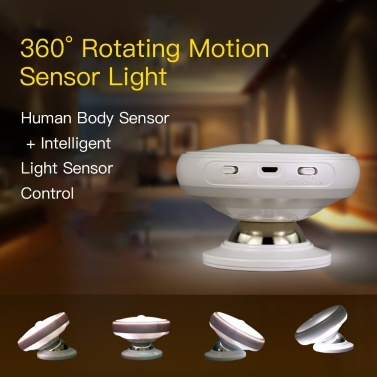 51% OFF 360? Rotating Motion Sensor Light use Battery,limited offer $8.99
