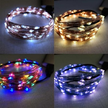 USB Copper Lamp String Weihnachts-LED Dekorative Lampe Copper Star String Lamp Light String 5m 50 Lichter Vier Farben Optional