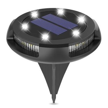 10LEDs Solar Rasenlampe Outdoor Wasserdichte Kunststoff Gartendekoration Landschaftslicht
