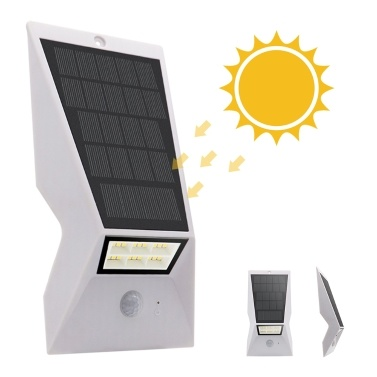 Solar Panel Wall Lamp IP65 Three Lighting Modes