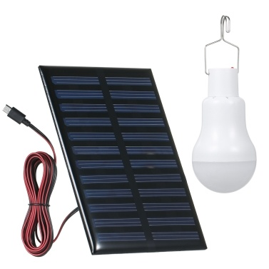 Solar Powered Energy Sensitive Light Control Light Bulb with Solar Panel