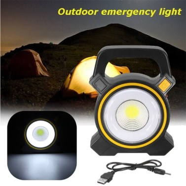 56% OFF Portable Solar Rechargeable LED Flood Light,limited offer $9.49