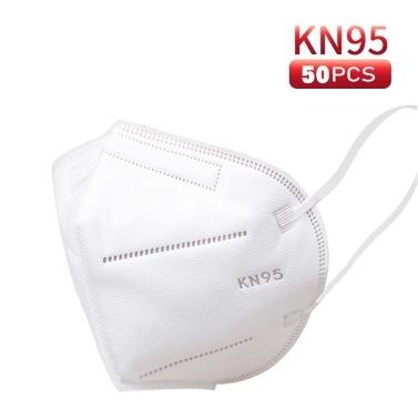 50 pcs KN95 Máscaras Máscara Facial Respirador de Proteção 5 Camadas Não-tecidos Tecidos Anti-particulados Anti-Poluição Máscaras de Poeira Máscara de Segurança para Adultos Crianças