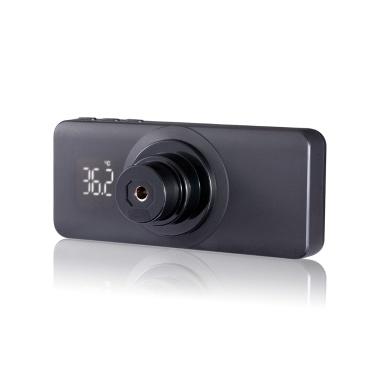 Thermomètre infrarouge sans contact intelligent automatique Thermomètre frontal ≤10cm Mesure automatique de la température Lecture en 1 seconde Écran LCD Interrupteur ° C / ° F