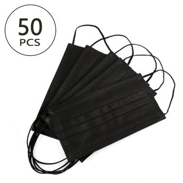 50PCS Descartável Máscara Facial PPE Adaptable Nose Bar 3-Layer Máscara protetora