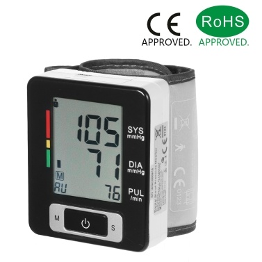 AlphagoMed Clinical LCD Automatic Wrist Blood Pressure Monitor