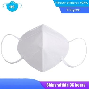 1PC KN95 Maschera per il viso monouso Anti PM2.5 Maschera per respiratore antipolvere traspirante Maschera antipolvere traspirante