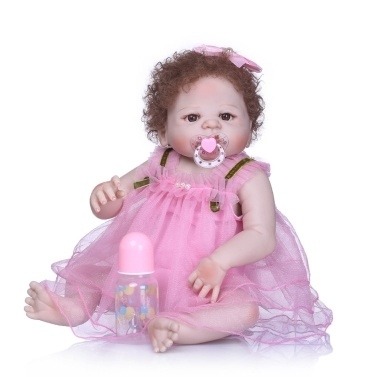 Reborn Baby Girl Doll 22 inch Soft Full Silicone Vinyl Body Lifelike Toddler Doll