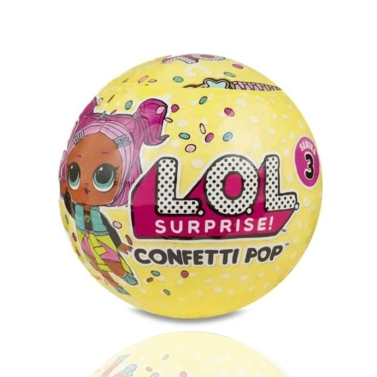 L.O.L.Surprise Confetti Pop-Series Unwrapping Toy,free shipping $5.94(Code:MT571)