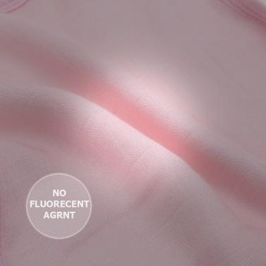 Baby Snap Bib 100% Organic Bamboo Muslin Soft Absorbent 3 Layers Adjustable Bibs For Newborn Infant Baby Pink