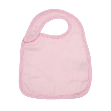 Baby Snap Bib 100% Organic Bamboo Muslin Soft Absorbent 3 Layers Adjustable Bibs For Newborn Infant Baby Pink