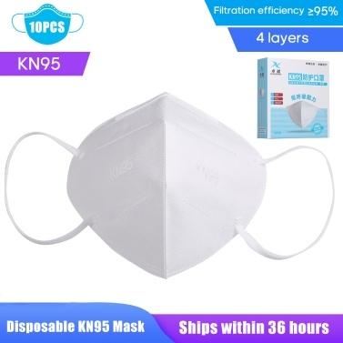 10 PCS KN95 Máscara Facial Descartável Anti PM2.5 Anti Respirador de Partículas-Máscara Boca-Máscara respirável à prova de poeira