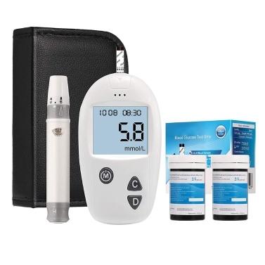 Blood Sugar Test Kit, Diabetes Blood Glucose Meter Monitor Kit mg/dL