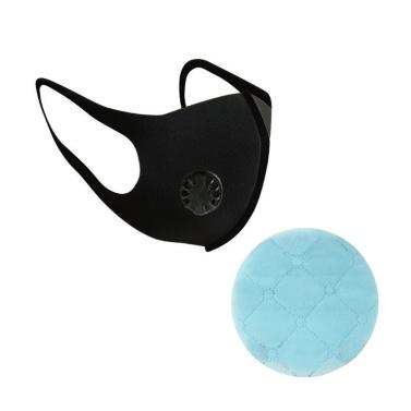 Einwegschutz Hygieneversorgung Schwarz Einzel Doppelventil Staubmaske Quadratisches rundes Maskenpad