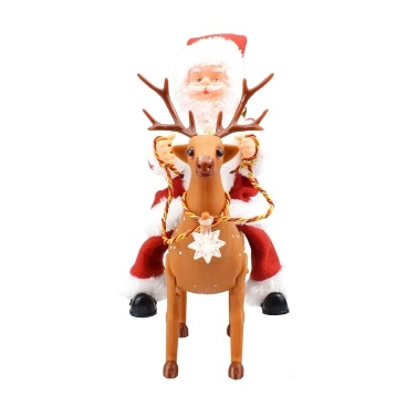 Santa Claus Riding Deer And Sing Christmas Songs