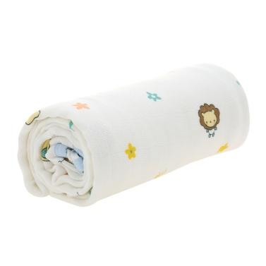 Baby Toddler Blanket 4 Layer 100% Bamboo Fiber Blanket For Bed Stroller Crib Car Nursing Cover 53*40 inches White