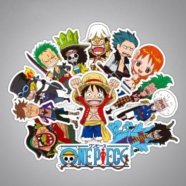 48Pcs One Piece 3-12Cm Stickers