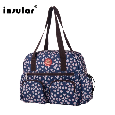 Insular Baby Diaper Bag Handbag Large Capacity Mummy Nappy Nursing Bag Travel for Baby Care Red