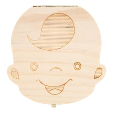 Baby Zähne Lanugo Speichern Box Holz Nette Persönlichkeit Laub Souvenir Box Farbige Box Für Jungen