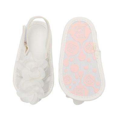 Infant Toddler Baby Shoes Girl Flower Sandals For Summer Soft Sole Non-Slip Prewalker Light Pink U.S Size 4