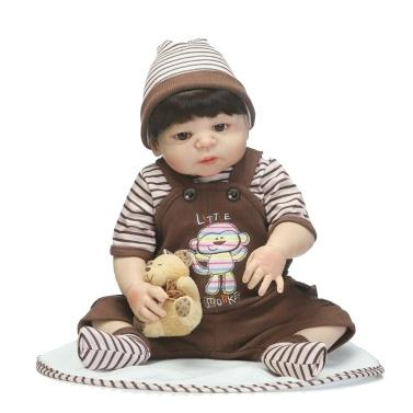 22in Reborn Baby Rebirth Doll Kids Gift All-Silica Gel Boy