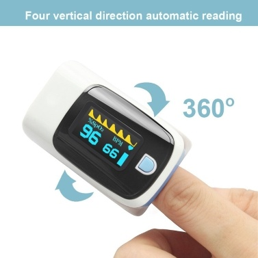 Fingertip Pulse Oximeter Mini SpO2 Monitor Oxygen Saturation Monitor Pulse Rate Measuring Gauge Device with Digital Display