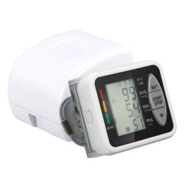 Esfigmomanómetro electrónico de muñeca Monitor de presión B-lood electrónico inteligente 99 grupos de memoria