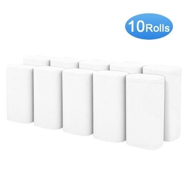10 Rollen Toilettenpapier 4 Schichten Badezimmerrolle Papierhandtücher Weiche und glatte Küchenpapier für das Home Office Hotel Restaurant