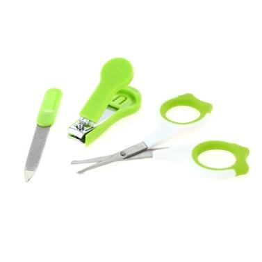 3 Stücke Sicherheit Baby Nagelknipser + Gerundete Schere + Trimmer Set Edelstahl Zehennagel Fingernagel Cutter Für Neugeborene Grün