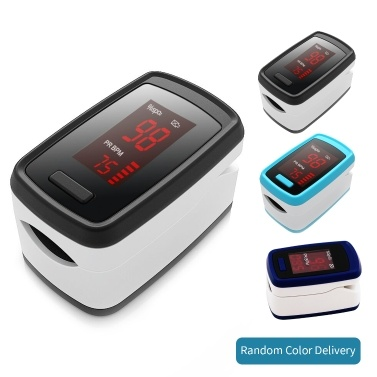 Oxímetro de pulso digital na ponta do dedo Display LED Sensor de oxigênio no sangue Saturação SpO2 Monitor Medidor de medição com som de bipe para casa de repouso Amante de esportes