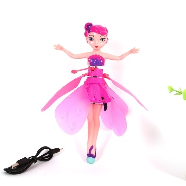 Electronic Flying Baby Dolls Toys Flying Fairy Doll Infrared Induction Control for Girls Birthday Present Christmas Gift