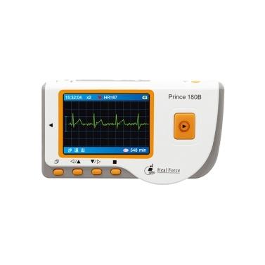 Heal Force Prince-180B Medizinischer Handheld Einfacher EKG-EKG-Monitor Herzfrequenzmesser der Maschine mit USB-Kabel + Elektrodenpad + Anschlusskabeln