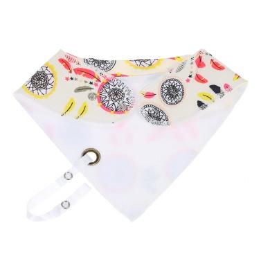 Baby Drool Lätzchen mit Schnuller Clip Absorbent Burpy Tücher Drool Pinafore Double Tuch Organic Cotton Set 4 Pack 4 Arten von Patterns Für Mädchen Jungen Gelb + Pink