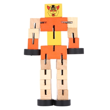 Buy Wooden Transformation Robot Cars Building Blocks Toys Gifts Early Educational Intelligence Kid Child