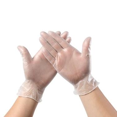 Einweg-PVC-Handschuhe Einmalige transparente AMMEX-Handschuhe Puderfrei Latexfrei