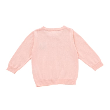 Baby Kids Sweater Coat Unisex 100% Cotton Baby Outfits Clothes Long Sleeve Spring Autumn Winter For Infant Toddler Kids Girl Boy Pink 1-2T