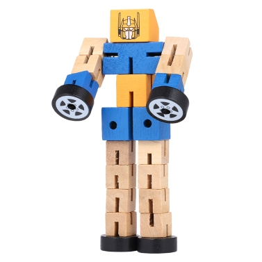 Wooden Transformation Robot Cars Toys,free shipping $3.18(Code:MT301)
