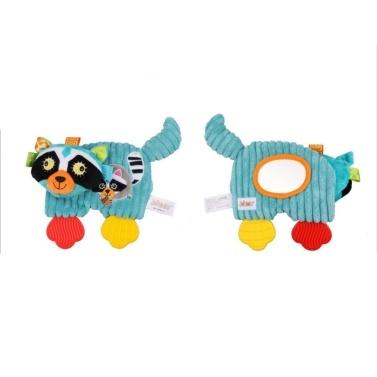 Baby Tröster Plüsch Kinderkrankheiten Spielzeug Cartoon Tiere mit Magic Mirror Baby Beruhigende Spielzeug Yellow Lion