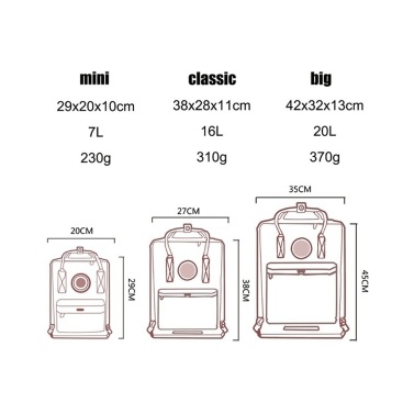 Style Unisex Classic Backpack Handbags Students Schoolbags
