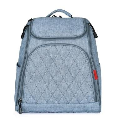 Baby-Windel-Beutel-große Kapazitäts-Mode-Mama-Windel-Beutel-Krankenpflege-Taschen-Reise-Rucksack für Baby-Sorgfalt-Grau