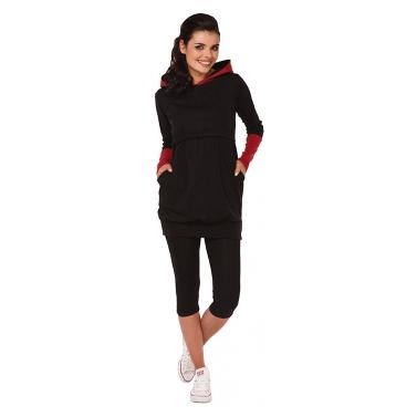 Womens Maternity Nursing Breastfeeding Hoodie Long Sleeves Sweatshirt Top Clothes Red S