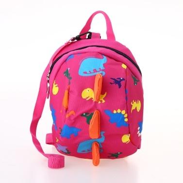 Kids School Bags Nylon Cute Dinosaur Travel Backpack Children Kindergarten Schoolbags Green