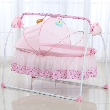 Electric Baby Bassinet Cradle Swing Rocking,free shipping $154.99(Code:MT396)