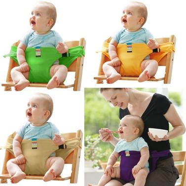 Baby-Hochstuhl-Geschirr-tragbarer Sicherheitsgurt-Baumwollspeisentisch-Baby-Sicherheitsgurt-Rosa