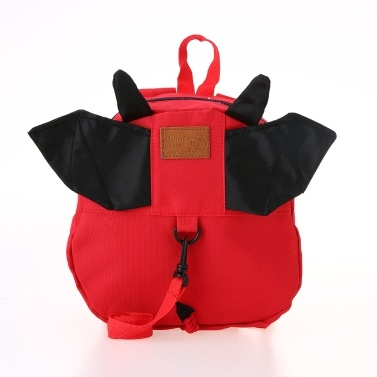 Kids School Bags Backpack Anti-lost Harness Canvas Cute Children Kindergarten Schoolbags With Wings Dark Blue Star