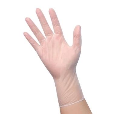 (L) 50 Stück / Einweghandschuhe Pulverfreie, dehnbare PVC-Handschuhe Sterile, lebensmittelechte Qualität für den Einsatz im Labor für Haushaltslebensmittel